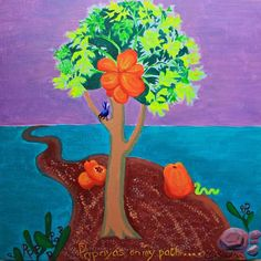 P is for Papaya...'Papayas on my path'