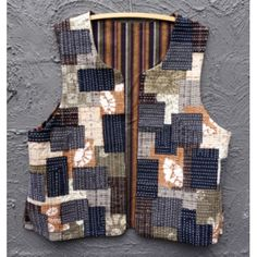 Boro Vest in Neutral Colours - easy to wear - process lends itself to adding your own flair - Indigo Niche