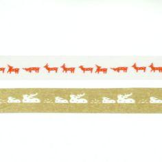 鹿マスキングテープ 赤金