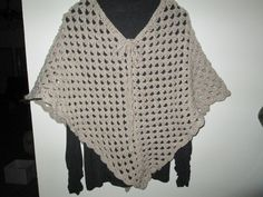 Teen Tan Poncho Crocheted by SuzannesStitches, Girl's Tan Poncho, Teen's Tan Poncho, Women's Tan Poncho, Tan Acrylic Poncho, Swimsuit Cover by SuzannesStitches on Etsy