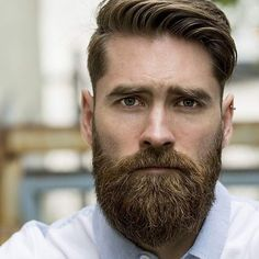 Thick Comb Over + Classic Taper + Full Beard