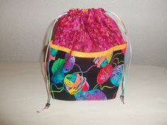 Small Knitting Project bag by StitchedNaturally on Etsy