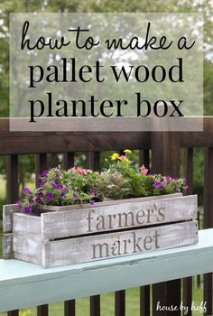 Easy Crafts To Make and Sell - DIY Pallet Wood Planter Box - Cool Homemade Craft Projects You Can Sell On Etsy, at Craft Fairs, Online and in Stores. Quick and Cheap DIY Ideas that Adults and Even Teens Wood Planter Box, Wood Planters, Planter Ideas, Easy Crafts To Make, Homemade Crafts, Diy Crafts, Garden Crafts, Wood Crafts That Sell, Easy Diy