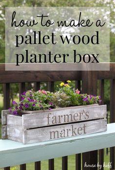 DIY Pallet Wood Planter Box {Summer Celebration 2015!} - House by Hoff