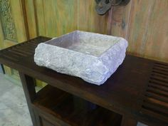 Balinese Stone Rough Rock Bathroom Round Basin Sink Bowl Large  40cm