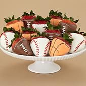 sports covered strawberries
