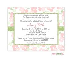 Our mommy to be is expecting a girl! Pink Floral Garden Nursery baby Shower Invitation