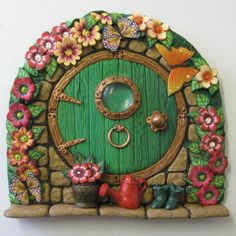Hobbit Style Fairy Door by PatsParaphernalia, via Flickr