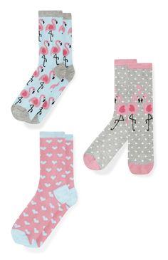 Primark - 3 Pack Flamingo Socks