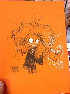 Heromine Sketch #HeroesCon2013