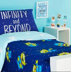 """""""TO INFINITY AND BEYOND"""" with Primark home! We think Buzz Lightyear and friends would totally approve of this and is perfect for any Toy Story lover! #Primark #Interiors #ToyStory"""