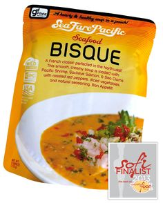 Sea Fare Pacific's Seafood Bisque, a creamy soup loaded with Pacific Shrimp, wild caught Alaskan Sockeye Salmon, & Sea Clams, is one of our 2013 sofi Awards finalist. Visit them at the Summer Fancy Food Show, #SFFS13 Booth no. 1550.