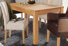 Details:  Mit Auszugsfunktion, Einlegeplatten verstaubar im Tisch, 4 cm starke Tischplatte, FSC®-zertifiziertes Massivholz, In verschiedenen Größen, Pflegeleichte Oberfläche, rechteckige Tischplatte, Tischplatte fest montiert, Tischplatte ausziehbar, Das Holz ist Eiche, geölt,  Maße:  Klein: (B/T/H) ca. 140(190)/90/75 cm, Mittel: (B/T/H) ca. 160(210)/90/75 cm, Groß: (B/T/H) ca. 180(230)/90/75 c...