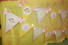 Partylicious-girly monkey birthday ideas
