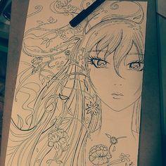 time work in progress Manga Art, Manga Anime, Sketching, Pop Art, Painting, Collection, Artists, Painting Art, Paintings