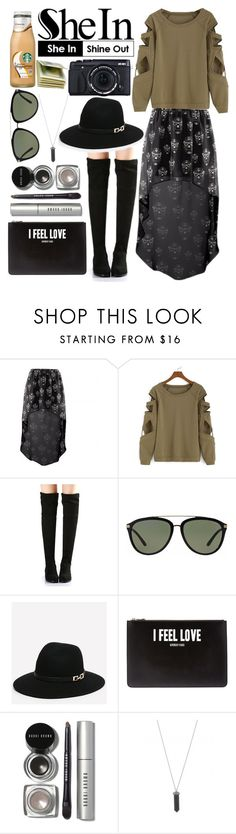 """""""Shein: Bat Sleeve Hollow Green T-shirt"""" by zulfastley ❤ liked on Polyvore featuring Versace, Bebe, Givenchy, Bobbi Brown Cosmetics, Karen Kane and sheincontest"""