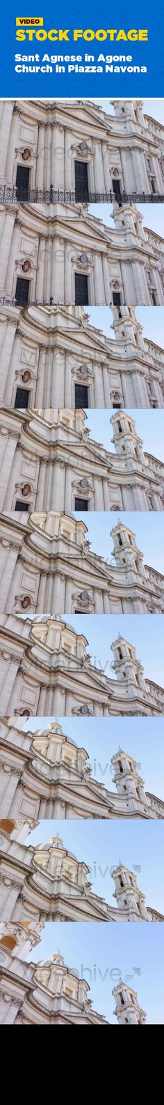 ancient, attraction, building, city, europe, history, italian, landmark, marble, monument, roma, roman, square, tourism, travel The biggest Baroque cathedral on Piazza Navona in Rome, Italy. Filmed on a quiet autumn afternoon. Good video on topics of architecture, traveling and history.