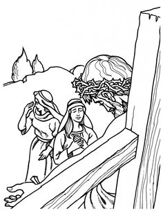 jesus bible story coloring pages - photo#23