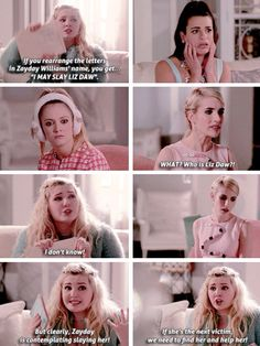 The Chanels // Scream Queens.. This scene is so funny