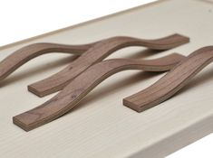 Wooden furniture handles, wood veneers and more by OakdaleVeneers Wooden Drawer Pulls, Wooden Drawers, Wooden Cabinets, Wooden Handles, Door Handles, Door Pulls, Kitchen Cabinets, Painting Wooden Furniture, Furniture Logo