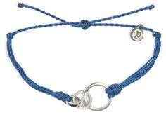 Silver 3 Circle Indigo   Pura Vida Bracelets