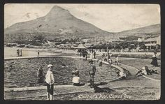 CAMPS BAY. Cape Town. Children's Pool. 1921.