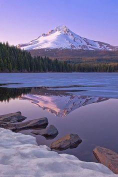 Trillium Lake, Clackamas County, Oregon, USA