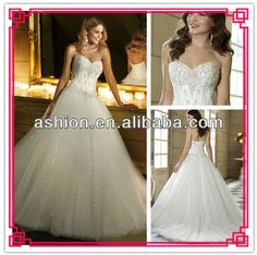 WE-1592 Strapless corset bodice ball gown princess wedding dress 2013 new fashion