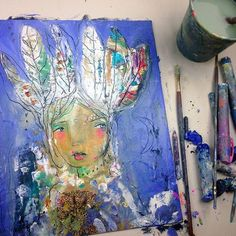 Early Bird Registration is open for Wild & Free Painting - A Mini Course In… Painting Process, Painting Techniques, Mixed Media Painting, Mixed Media Art, Create A Face, Painting Templates, Early Bird, Joy And Happiness, Wild And Free