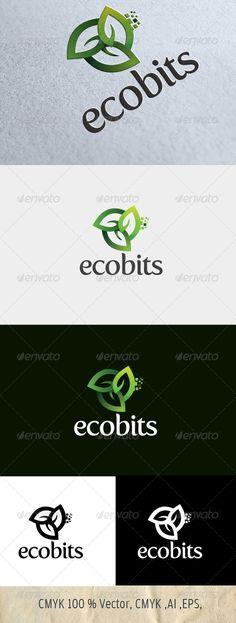 logo for sale just 29$ graphicriver.net Ecobits Logo Psd, Ecommerce Logo, Logo Desing, Best Logo Design, Clover Logo, Data Logo, Leaf Logo, Organic Logo, Green Logo