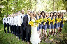 cute idea for wedding party pics