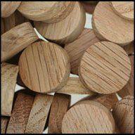WIDGETCO 7//16 Oak Button Top Wood Plugs
