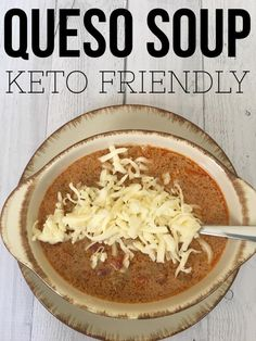 """TweetEmail TweetEmail Share the post """"Queso Soup {Keto Friendly & Low Carb}"""" FacebookPinterestTwitterEmail Y'all it's hard to believe that you can eat food that tastes exactly like queso dip and lose weight. I would have never believed it if I hadn't been experiencing it myself. My husband and I are enjoying a Ketogenic lifestyle withcontinue reading... Ketogenic Lifestyle, No Carb Diets, Low Carb Taco Soup, Keto Taco, Easy Taco Soup, Keto Soup, Ketogenic Recipes, Ketogenic Diet, Low Carb Recipes"""