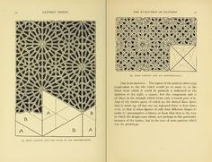 pattern design and Alhambra geometry links