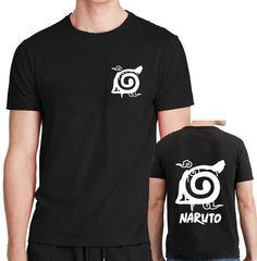 XXL Hokage Symbol Logo T shirt Konoha Minato Naruto Hashirama Anime Top Mens S