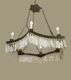 Lowcountry Originals 6 pt. Chandelier with Crystals and Shells
