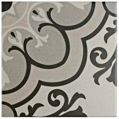 Merola Tile Brezo Solano 5-7/8 in. x 5-7/8 in. Porcelain Floor and Wall Tile (5.73 sq. ft. / case), Grey/White And Black/Medium Sheen
