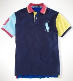 Custom Neon Multi Big Pony French Navy Multi. outlet polo · Ralph Lauren ... c5c8681e1cc9
