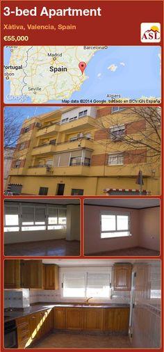 3-bed Apartment in Xàtiva, Valencia, Spain ►€55,000 #PropertyForSaleInSpain