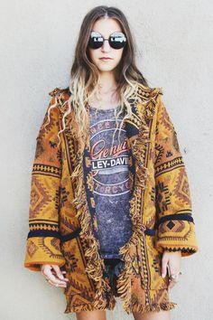 Sahara Sands Vintage Kilim Tapestry Coat