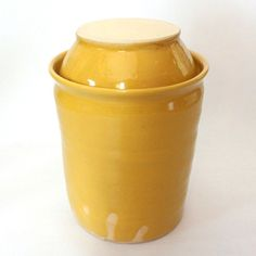 Stoneware jar and lid, specifically made for fermenting - think homemade sauerkraut! Fermenting Jars, Fermentation Recipes, Probiotic Foods, Fermented Foods, Real Food Recipes, Diet Recipes, Water Kefir, Gaps Diet, Sprout Recipes