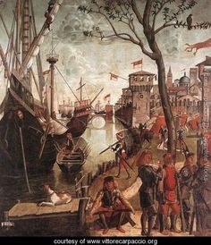 The Arrival of the Pilgrims in Cologne 1490 - Vittore Carpaccio - www.vittorecarpaccio.org
