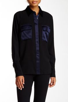 Pink Tartan - Utility Silk Trim Shirt at Nordstrom Rack. Free Shipping on orders over $100.