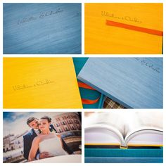 THE POWER OF COLOR -The Italian #photographer Daniele Cherenti played with the colors available for Maple material for his first #primobook. The result is stunning! #graphistudio #weddingbook #weddingphotography