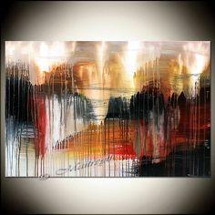 Moderno abstracto pintado a mano arte sobre lienzo increíble