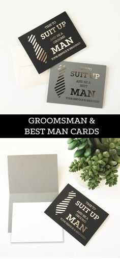 Groomsmen Cards Will You Be My Groomsman Card Funny Cool Best Man Proposal Card Best Man Card (EB3194QST) set of 4 cards by ModParty on Etsy https://www.etsy.com/hk-en/listing/488429868/groomsmen-cards-will-you-be-my-groomsman