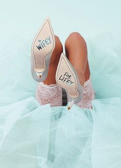 These New Designer Wedding Shoes Are Every Bride's Dream via Brit + Co. - new idea with <3 from JDzigner www.jdzigner.com