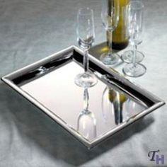 11X16 SILVER RECTANGLETRAY - LARGE 11X16 SILVER PLATED RECTANGULAR TRAY by Godinger. $20.29. Silver plated material. LARGE 11X16 SILVER PLATED RECTANGULAR TRAY