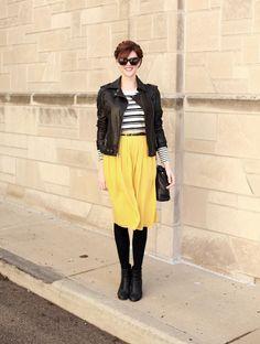 What I Wore | Sunshine, @Jessica Quirk | What I Wore, #fashionblog, yellow skirt