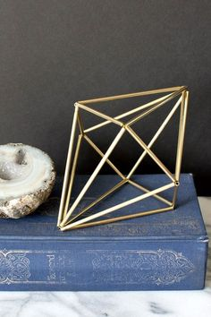 Once I got started making himmeli-inspired shapes, I couldn't stop. The only thing that stopped me from making brass versions of the other straw prototypes I came up with was that my hands we…